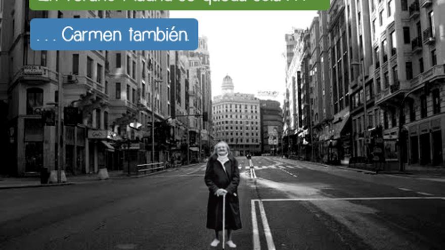 Cartel de la campaña de crowdfunding de Amigos de los Mayores