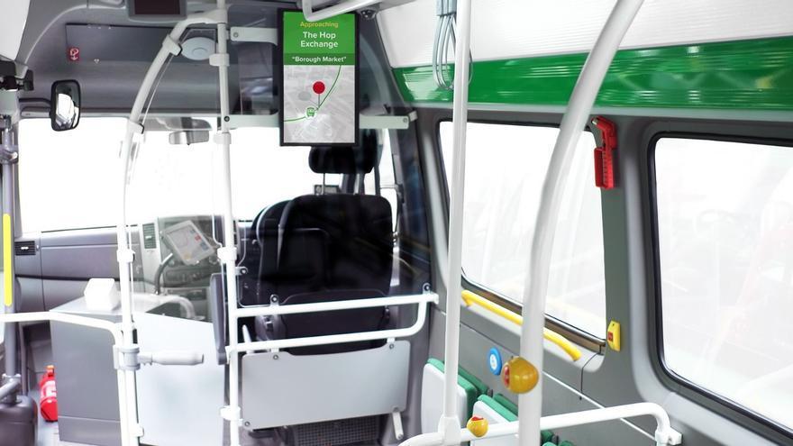 El bus de Citymapper por dentro