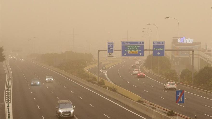 Efectos de la calima en Gran Canaria.