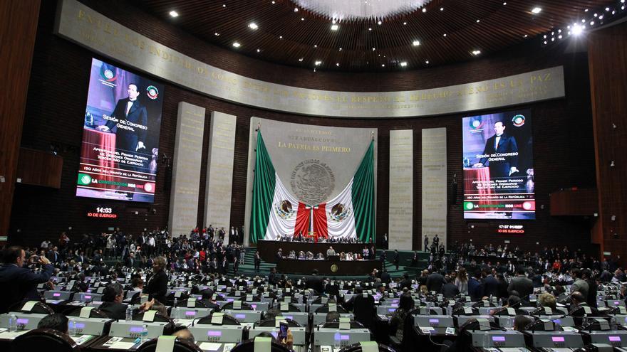 Vista general del Pleno de La Cámara de Diputados, en Ciudad de México (México).