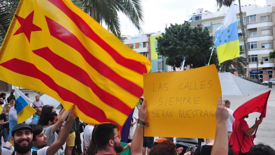 Manifestación en Gran Canaria el 1 de octubre