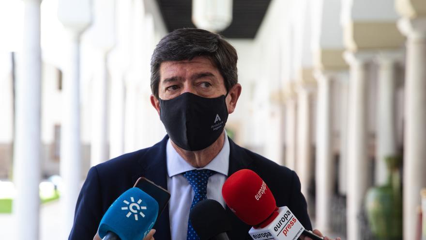 El vicepresidente de la Junta y coordinador autonómico de Cs, Juan Marín, en una imagen de archivo.
