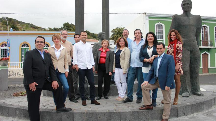 En la imagen, los miembros de la lista del PP al Ayuntamiento de Mazo.