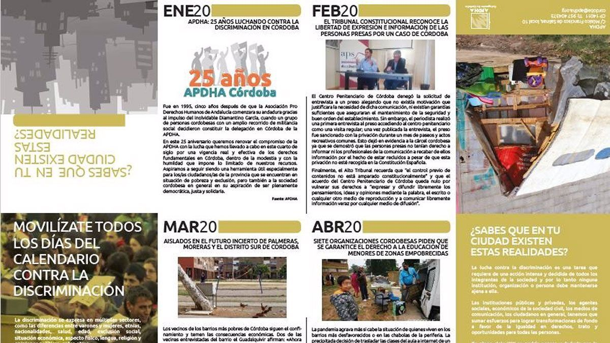 Calendario de APDHA.