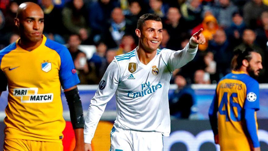 Cristiano Ronaldo en el Apoel Real Madrid de Champions