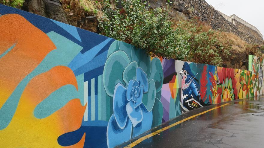 El reconocido grafitero canario Sabotaje al Montaje, nombre artístico del lanzaroteño Matías Mata, ha realizando una intervención artística en la calle Vega Monroy.
