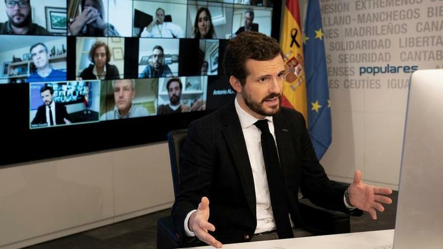 Casado pide que Sánchez comparezca cada semana en el Congreso por el COVID-19