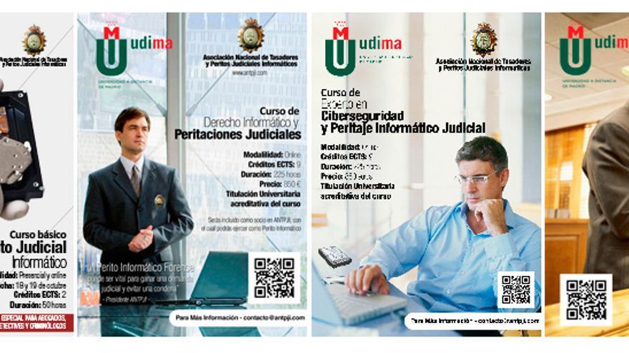Oferta formativa de la Asociación Nacional de Tasadores y Peritos Judiciales Informáticos (Foto: web de ANTPJI)