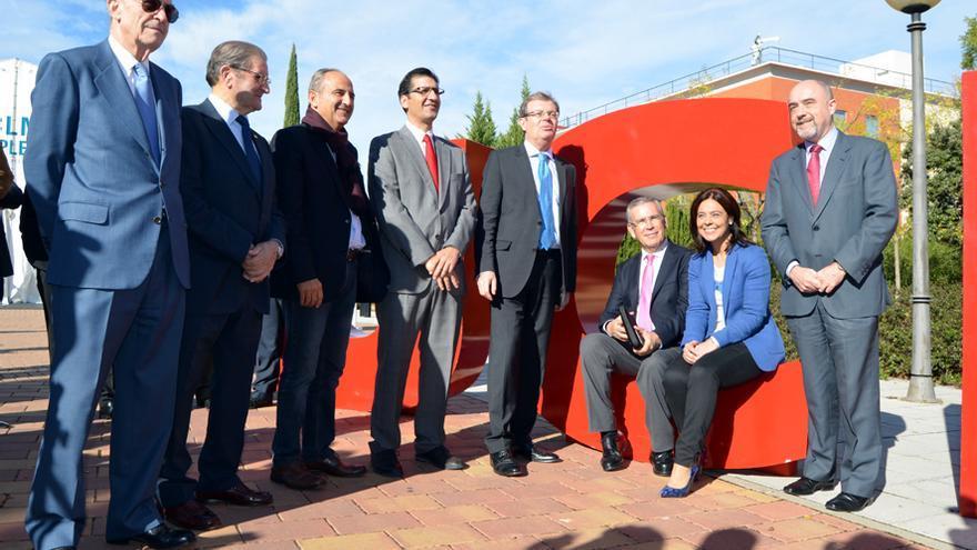Representantes institucionales en la inauguración del Foro del Empleo de la UCLM