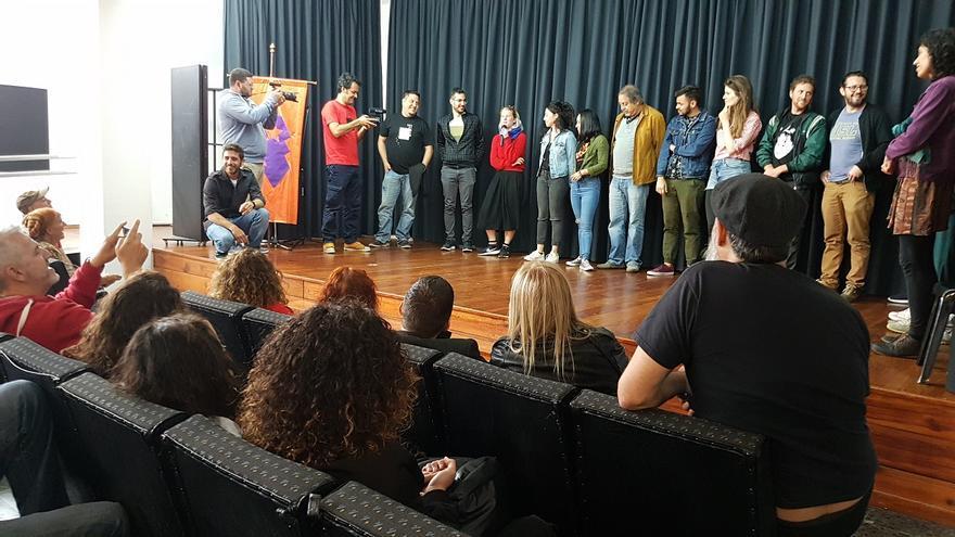 Reunión con los cineastas participantes en La Palma Rueda, la sección a concurso del XIII Festivalito La Palma-Festival de Cine de Las Estrellas y en la que, en esta edición, participan más de 270 cineastas.