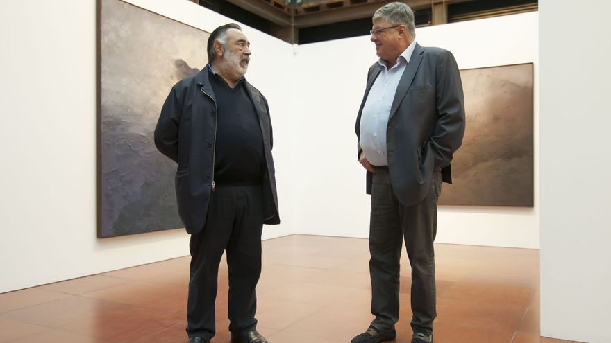 Rafael Mongas y Alberto Delgado, en la sala de Aguere