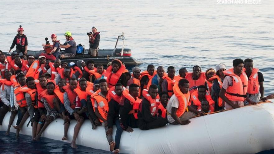 Imagen del rescate de la ONG Lifeline.