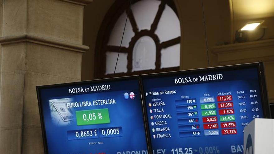 La prima de riesgo baja a 134 puntos tras la caída del bono a diez años