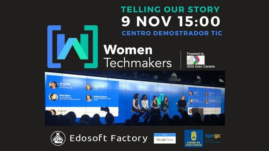 Cartel promocional de Women Techmakers GC 2017. (Cabildo Gran Canaria).