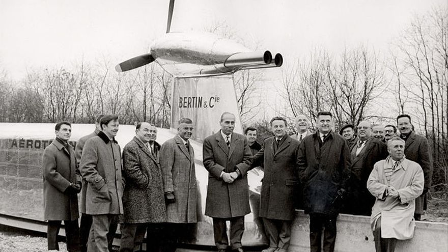 El prototipo de 'aerotrain' del ingeniero francés Jean Bertin en los años 50