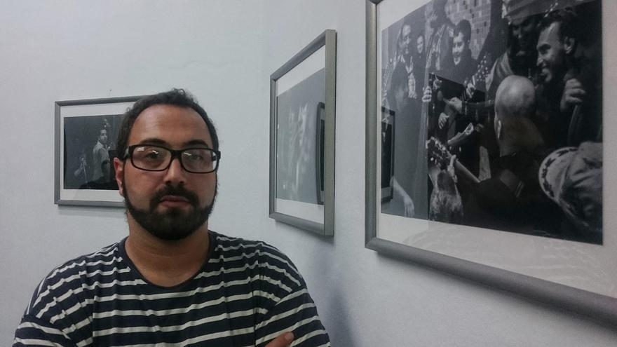 Juancho García en la exposición.