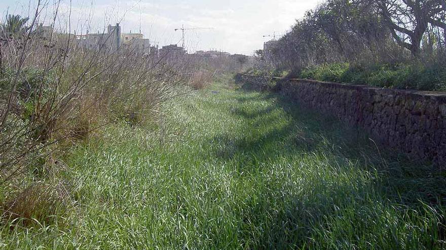 Lo que queda del antiguo trazado del tren hacia Gandia y Carcaixent, en las inmediaciones de Dénia.