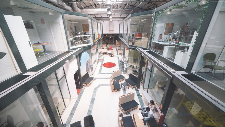 Espacio de Coworking de Utopic_US, uno de los proyectos incluidos en la Bolsa Social. Foto: Utopic_US