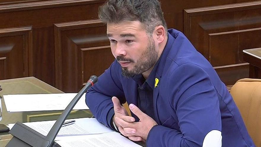 Rufián dice no ha guiñado el ojo a diputada del PP y la critica por insultar
