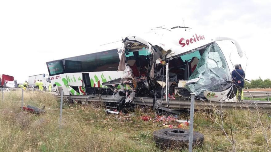 Imagen del autobús siniestrado