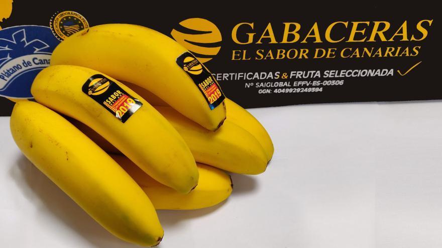 Imagen de la marca de plátanos 'Gabaceras'.