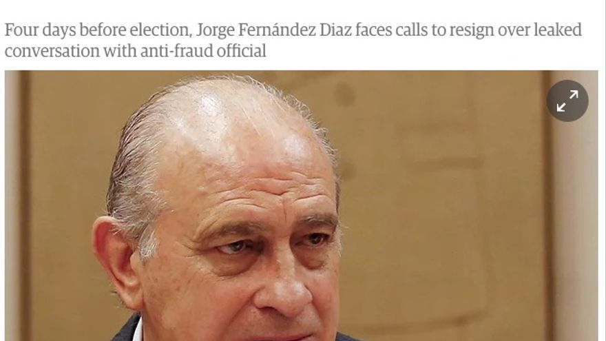 Noticia de The Guardian sobre Fernández Díaz