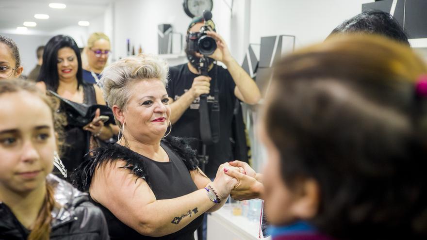 Chary Pascual en la inauguración de la primera Escuela de Imagen Integral en Canarias