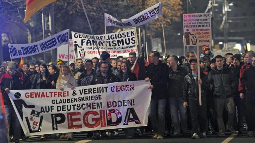Imagen de una manifestación de Pegida en Alemania / EFE