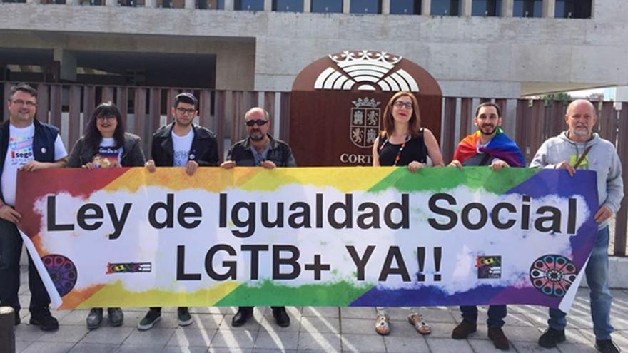 Manifestación de los colectivos LGTBI de Castilla y León el año pasado.