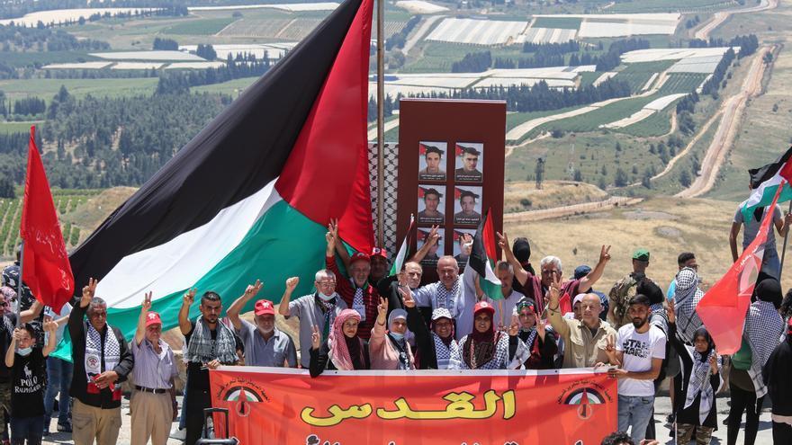 Dos manifestantes heridos por disparos israelíes en la frontera con el Líbano
