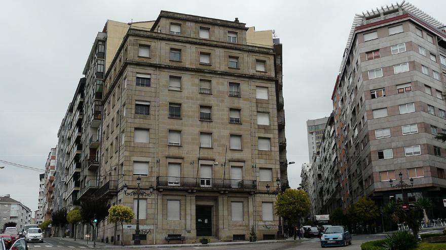 Vista del edificio de la vieja Cámara de la Propiedad de Ourense, en una imagen facilitada a los contratistas de la reforma