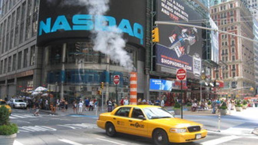 Cartel del Nasdaq en Times Square