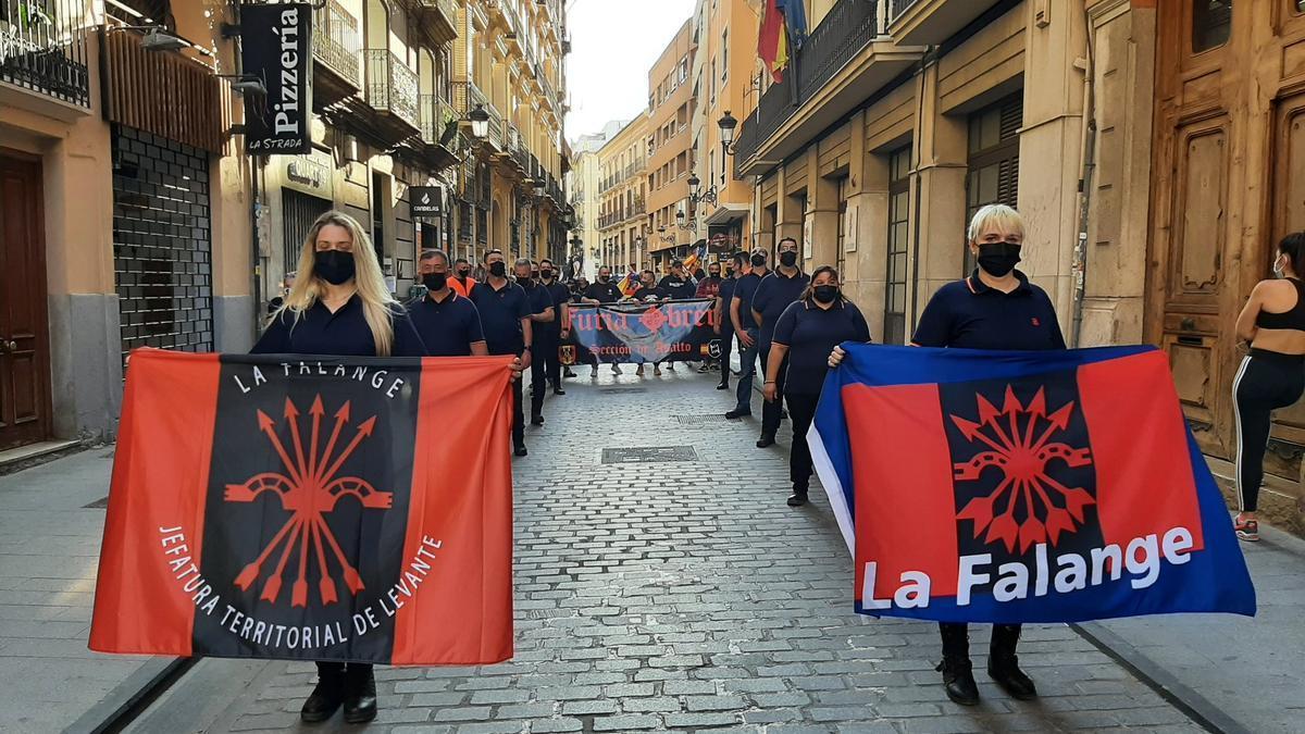 Manifestació ultra el passat 1 de maig.