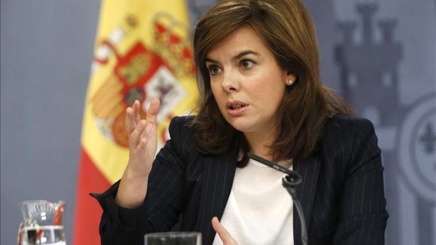 La vicepresidenta insiste en que todos los partidos condenen la violencia en las protestas.