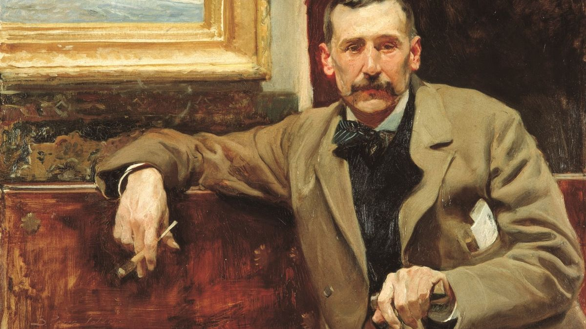 Uno de los retratos más célebres del escritor Benito Pérez Galdós
