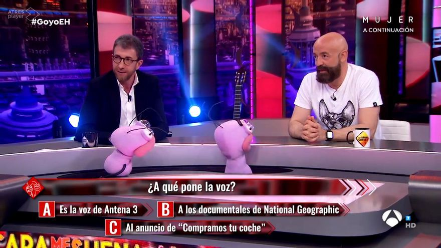 Pablo Motos y Goyo Jiménez en 'El Hormiguero'