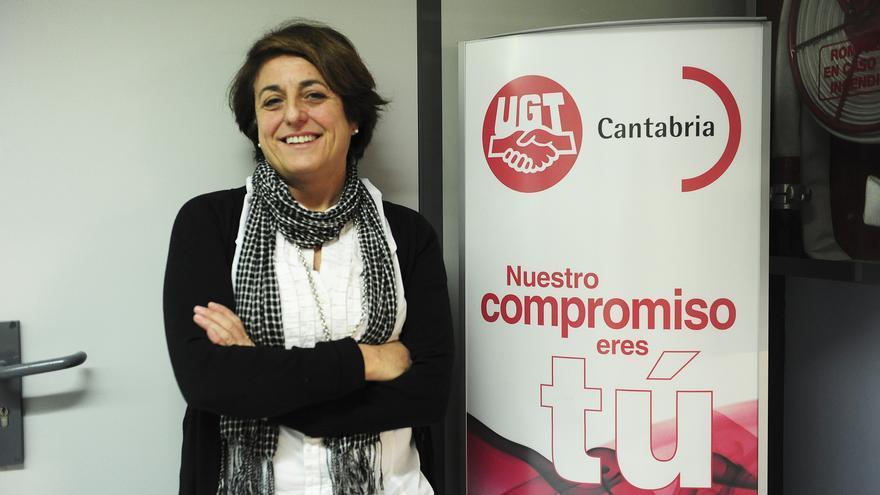 María Jesús Cedrún, secretaria general de UGT Cantabria.