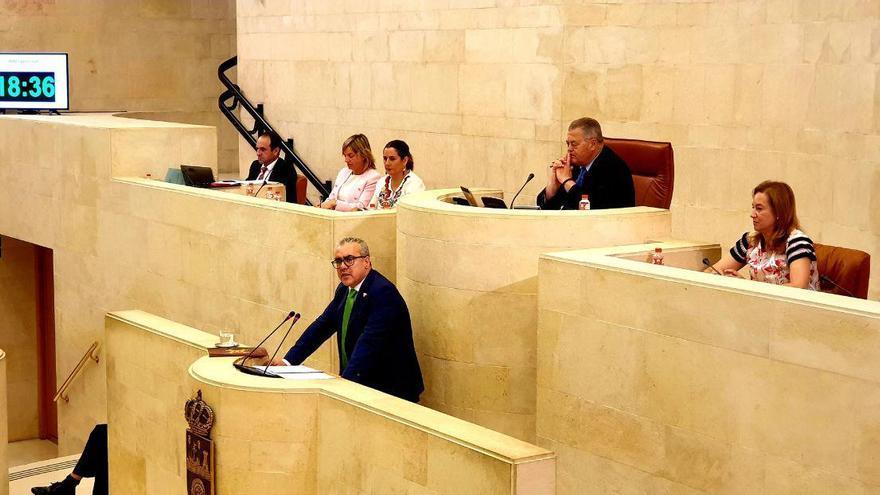 Pedro Hernando durante el debate de investidura en el Parlamento. | PRC