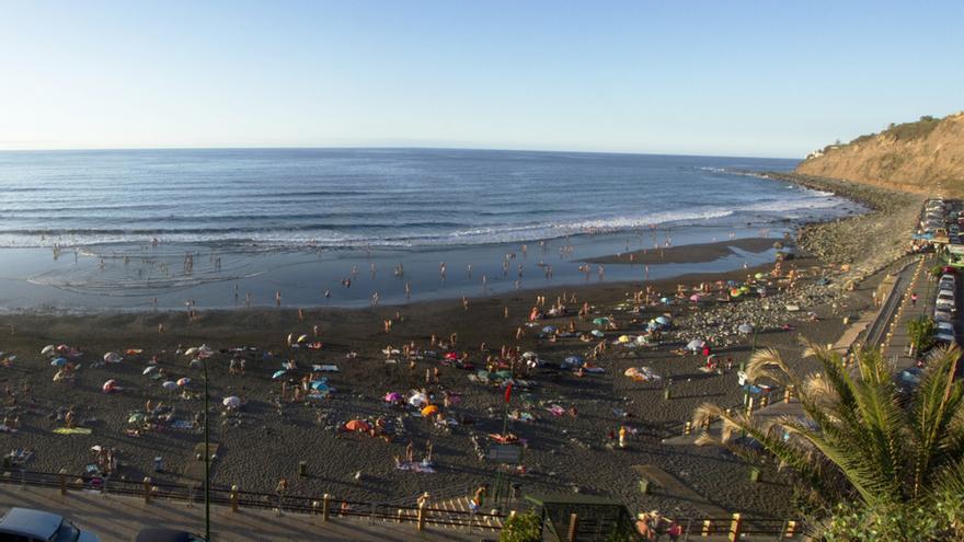 Playa de El Socorro, en Los Realejos, la zona de baño con más usuarios del municipio