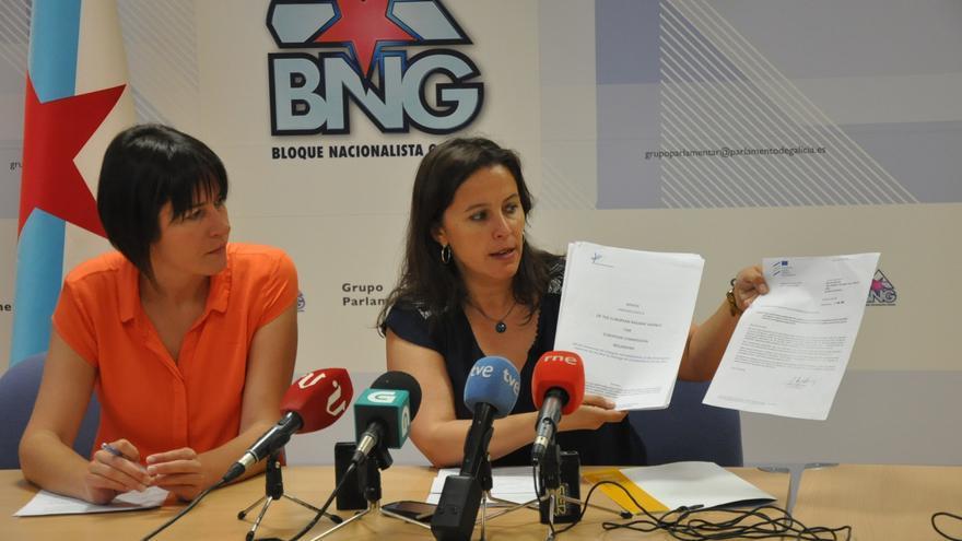 Pontón y Miranda (derecha), explicando la denuncia en rueda de prensa