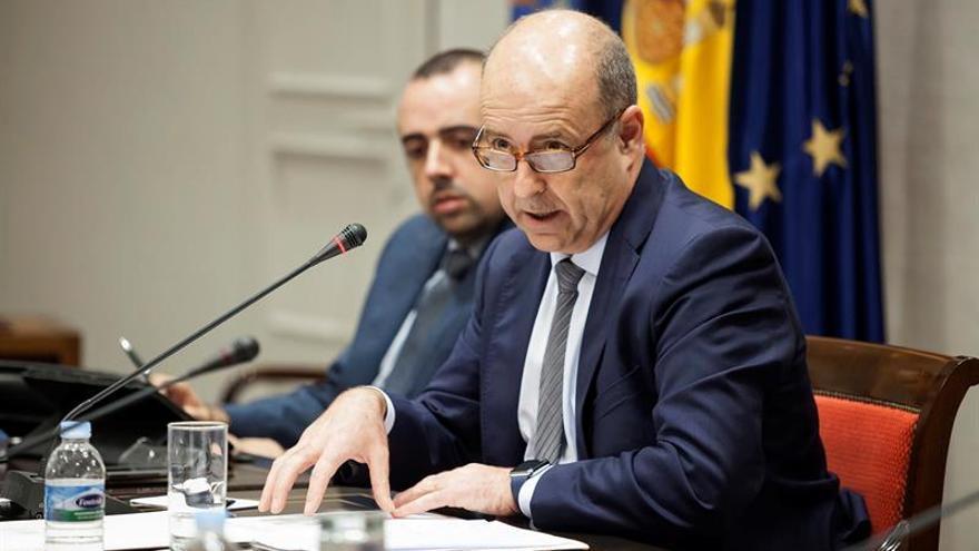 El consejero de Economía, Industria, Comercio y Conocimiento, Pedro Ortega