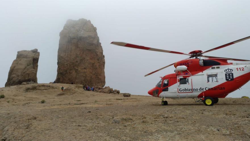 Rescate del turista fallecido tras sufrir una caída en Tejeda