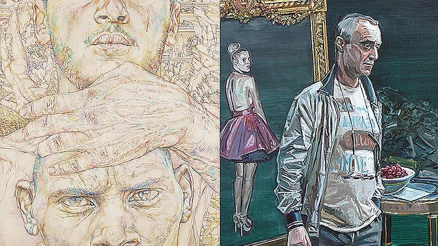 Obras de Koen de Cock en la última exposición de la galería de Roberto Polo