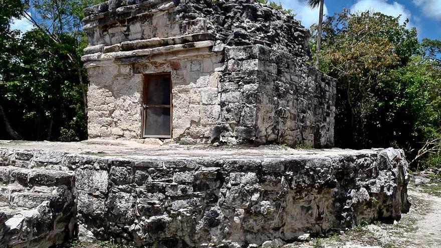 San Gervasio, uno de los yacimientios maya de la isla de Cozumel.