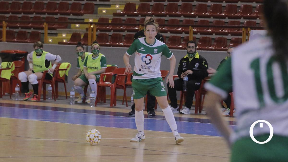 Inma Sojo, en un partido del Deportivo Córdoba