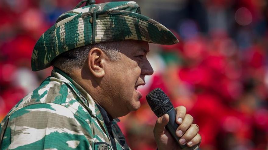 """Cabello alerta sobre """"acciones"""" de golpe de Estado contra el Gobierno venezolano"""