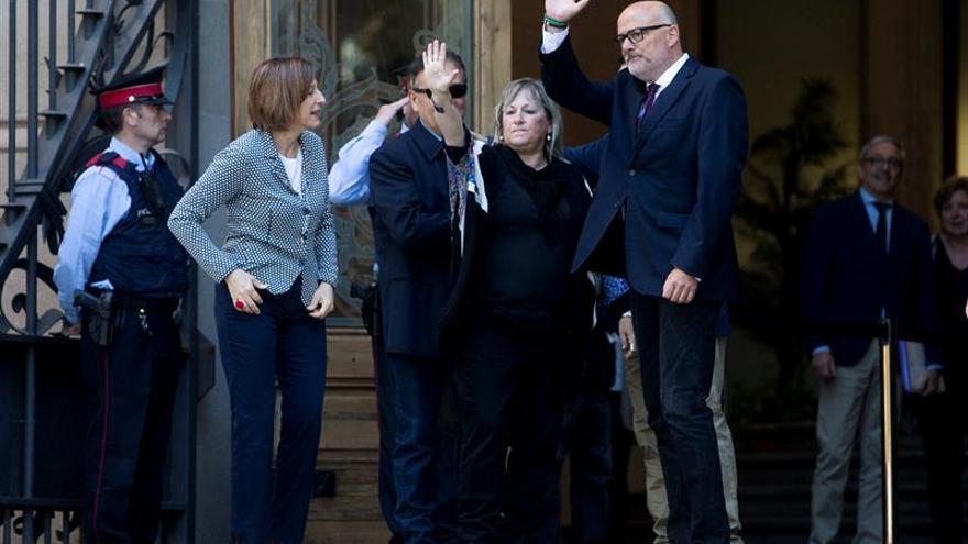 Corominas y Barrufet llegan al TSJC acompañados por dirigentes soberanistas