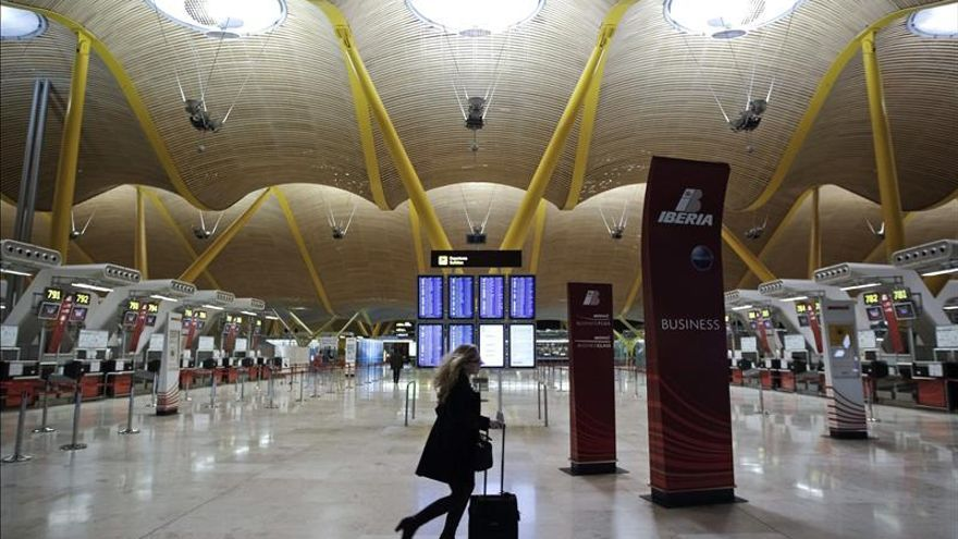 Terminal T4 del Aeropuerto de Barajas, en Madrid.
