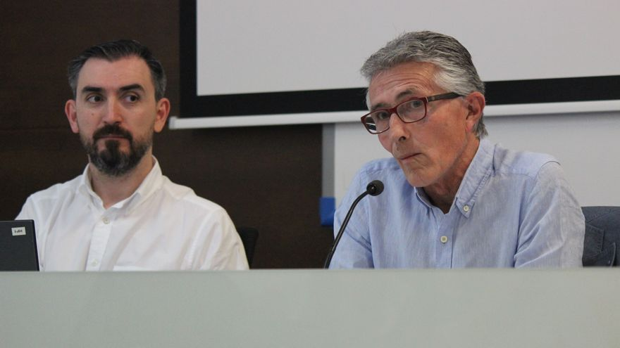 Rafael Rodríguez, presidente de la Asociación de la Prensa Sevillana presenta a Escolar