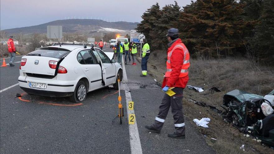 Ocho muertos en otros tantos accidentes de tráfico durante el fin de semana